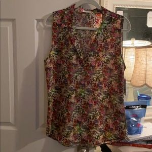Equipment 100% silk button down blouse